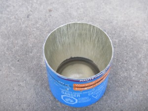 Sunscreen Stove:  Notice the inner wall is too short.