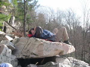 Relax time on the rockfall
